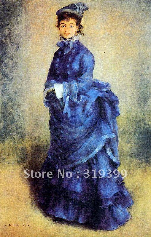 , 100% Handgefertigte Ölgemälde Auf Leinwand, Die Pariser By Pierre Auguste Renoir, Freies Dhl-verschiffen, Museum Qualität Schrecklicher Wert