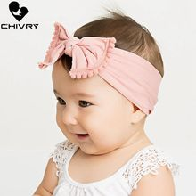 Chivry Toddler Infant Baby Kids Turban Knot Soft Nylon Head Wrap Newborn Boys Girls Headband Hair Accessories 20 Colors