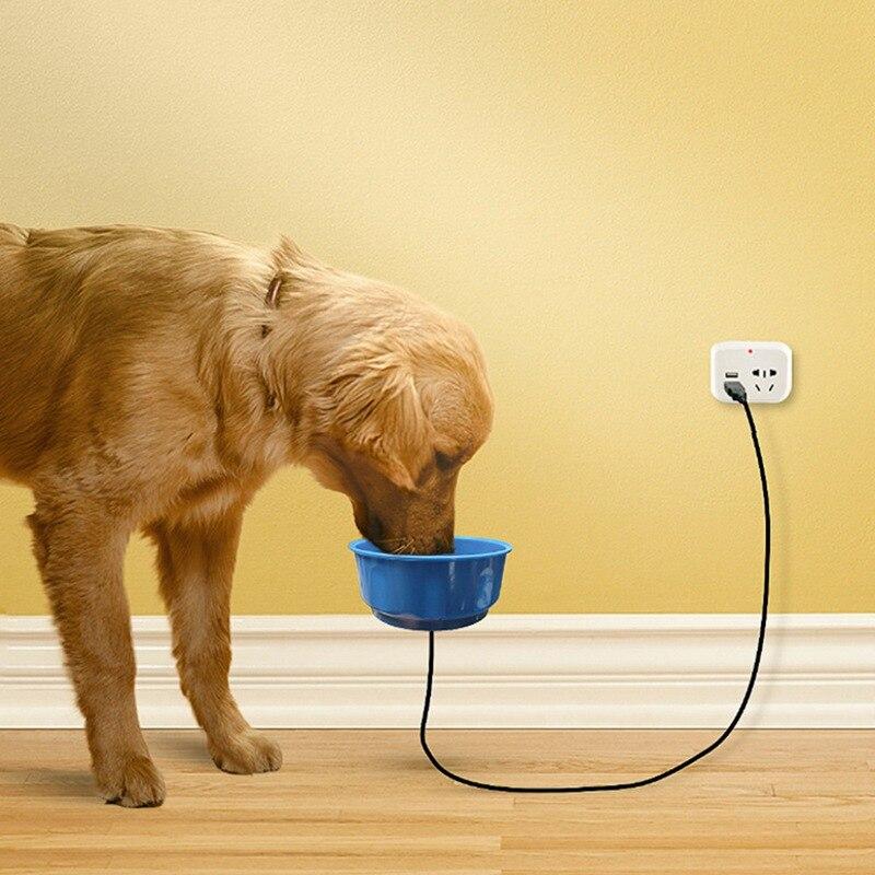 Pet Dog Cat USB Heated Pet Feed Bowls Water Bowl Heated Pet Feed Bowl Safe Cage Feeder Automatic Constant Temperature Bowl
