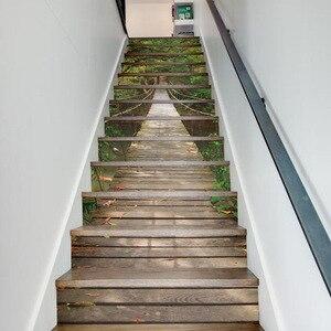 Image 1 - Adesivi per scale 3D adesivi per scale adesivi murali per pavimenti adesivi per soggiorno decorazione 13 pz/set