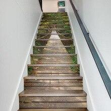 Pegatinas 3D para escaleras, pegatinas para decoración de pisos y paredes, pegatinas para decoración de salas de estar, 13 unids/set