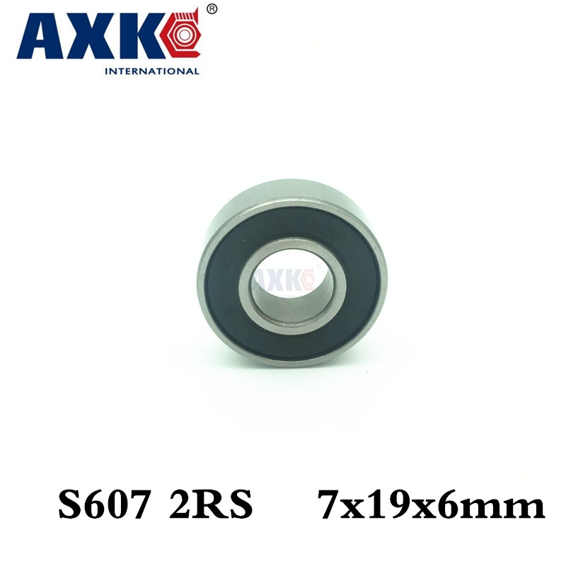 Axk Engine Bearing Stainless Steel Hybrid Ceramic Ball Bearing S607 2rs Cb Abec5 7x19x6mm axk free shipping 1pcs 6901 2rs hybrid ceramic si3n4 ball 61901 ceramic bearing 12 24 6mm 6901 2rs