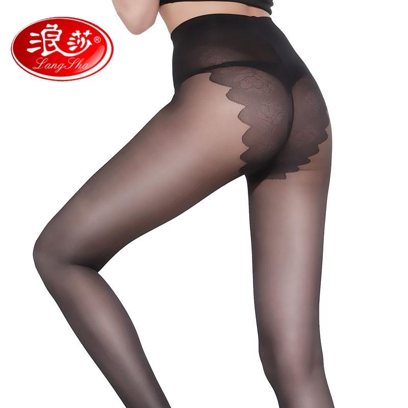LANSWE EU SIZE Women Women BIKINI Crotch 40D pantallona të gjera të hollë pantallona të ngurta Zonjë me ngjyra të ngurta Sexy Slim Tights Anti-grepa markë femra Najloni çorape