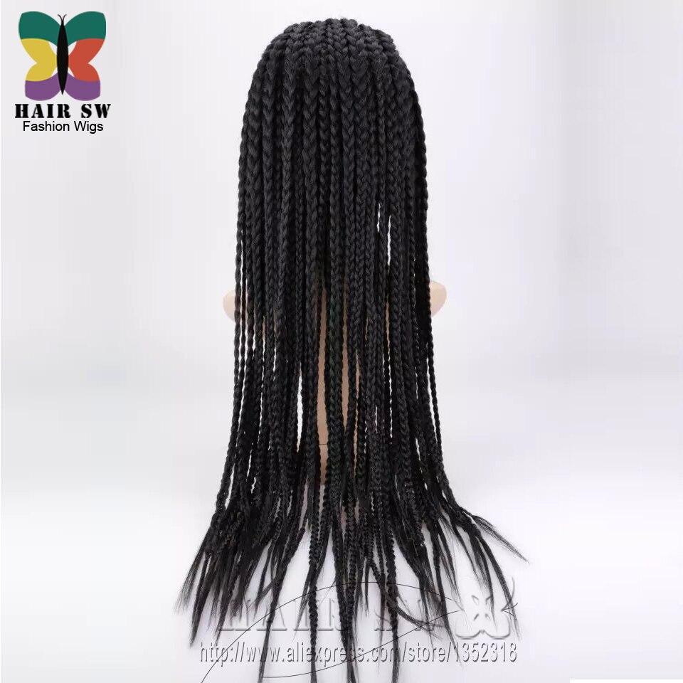 Mano Caja Borde afroamericano peluca Del Frente Del Cordón Trenzado ...