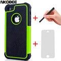 7 nkobee 7 mais híbrido silicon voltar case capa para apple iphone 5c 5 c 5 5S 6 para i phone 6 6 s 7 7 além de caneta + tela de toque presente