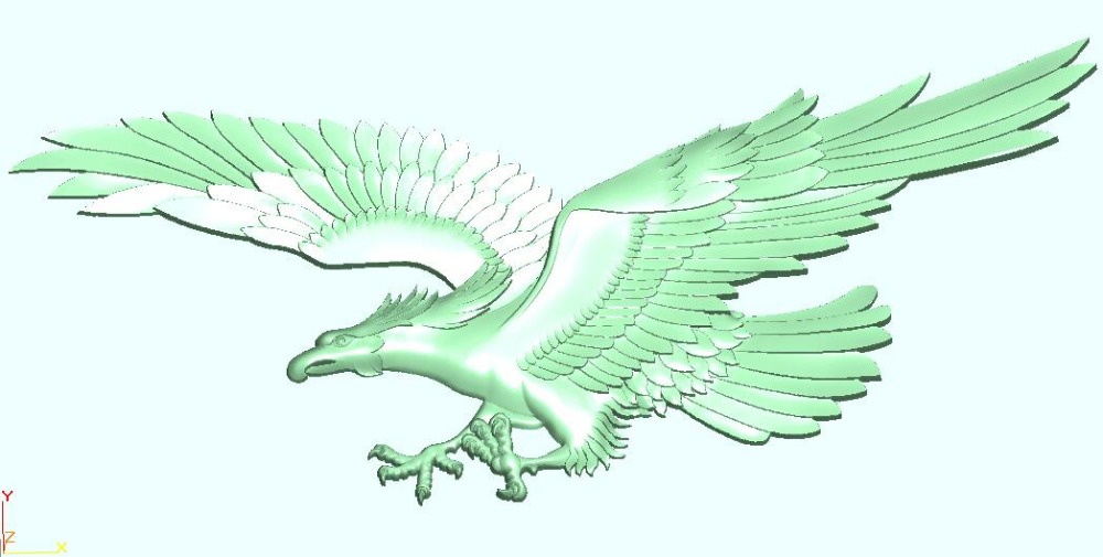 Eagle 3D file in STL format relief for cnc router carving artcam -in ...