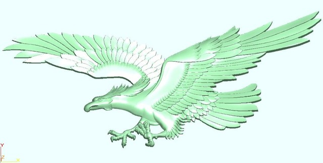 Aliexpress.com : Buy Eagle 3D file in STL format relief for cnc ...