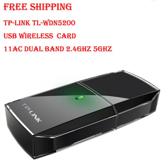 Frete grátis TP-LINK TL-WDN5200 11AC Dual Band 2.4 GHz sem fio de 5 GHz USB adaptador sem fio de jogo interferencenetwork
