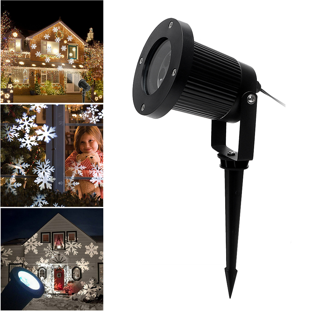 iTimo Snowflake Laser Projector Lamp New Year Christmas Landscape Holiday Lighting LED Stage Light Waterproof Garden Moving Snow