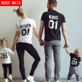 Family Matching Clothes Summer 2016 Cotton Short Sleeve Family Look Mother Father Daughter Son T-shirts Family Matching Outfits