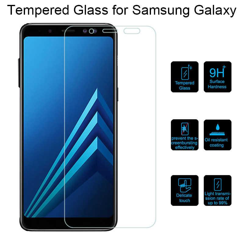 HD شاشة فيلم الزجاج لسامسونج غالاكسي A6 زائد 2018 A9 ستار لايت الزجاج المقسى لسامسونج A8 زائد الزجاج على نوت 4 5 7 8 9 FE