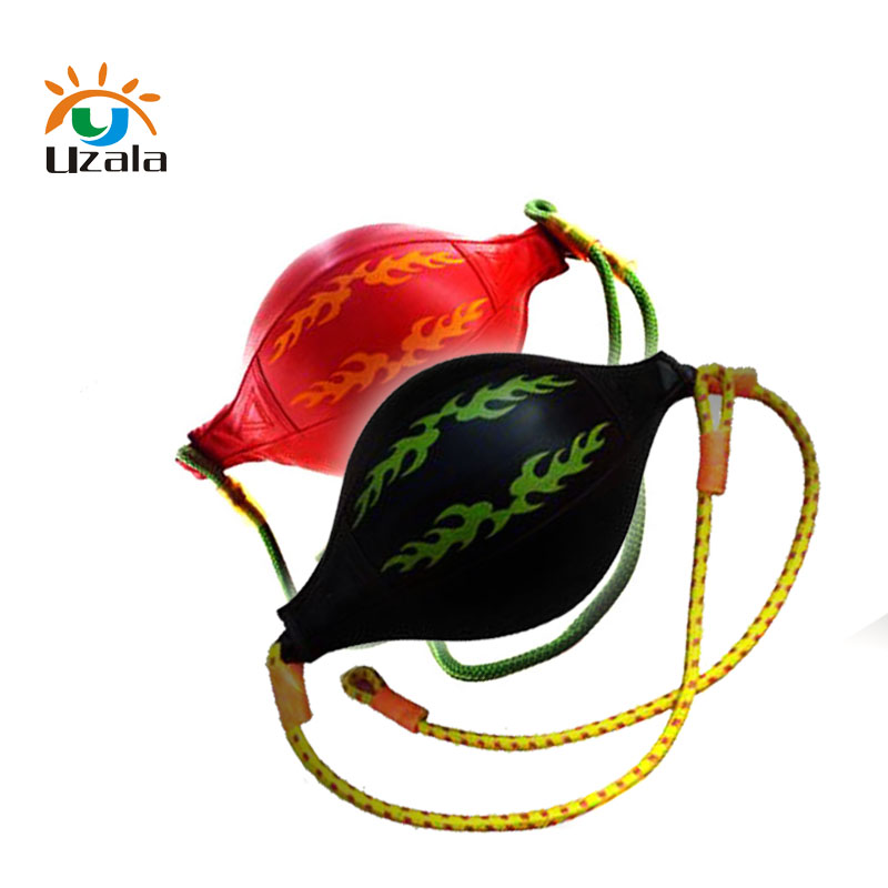 The boxing speed ball family and sports training equipment hang 2 layers PU leather speed ball. W2-029