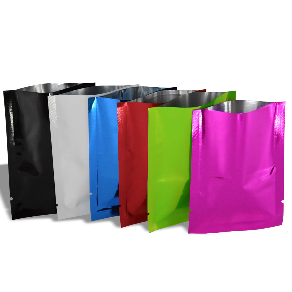 100pcs lot White Flat Open Top Mylar Foil Bag Coffee Bean Snack Bulk Food Vacuum Bag Package Aluminum Foil Pouches Heat Sealable in Storage Bags from Home Garden
