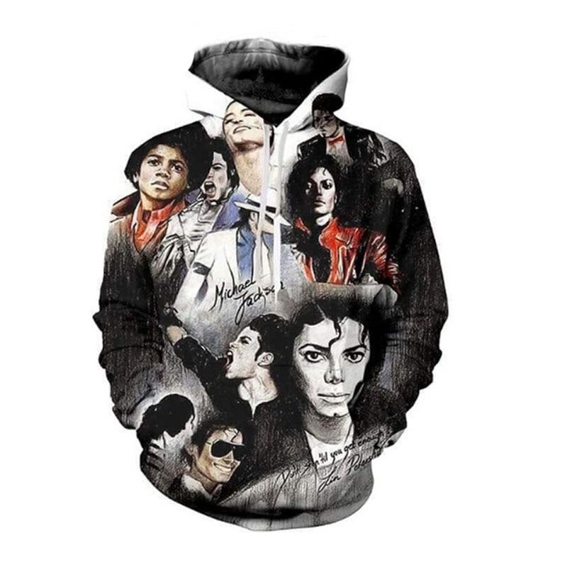 Michael Jackson Imprimer 3D Hoodies Sweat Hommes Femmes Plus Taille Tenues Pull Commémorative Vêtements Dropship