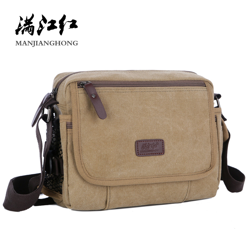 Casual Canvas Men Small Shoulder Bag Satchel Vintage Retro Crossbody Sling Bag For Men Leisure Male Messenger Bags Handbag 1106