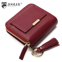 ZOOLER Brand Women Leather Wallets 2016 New Listed Stylish Purse Small Famous Brand OL Lady Coin