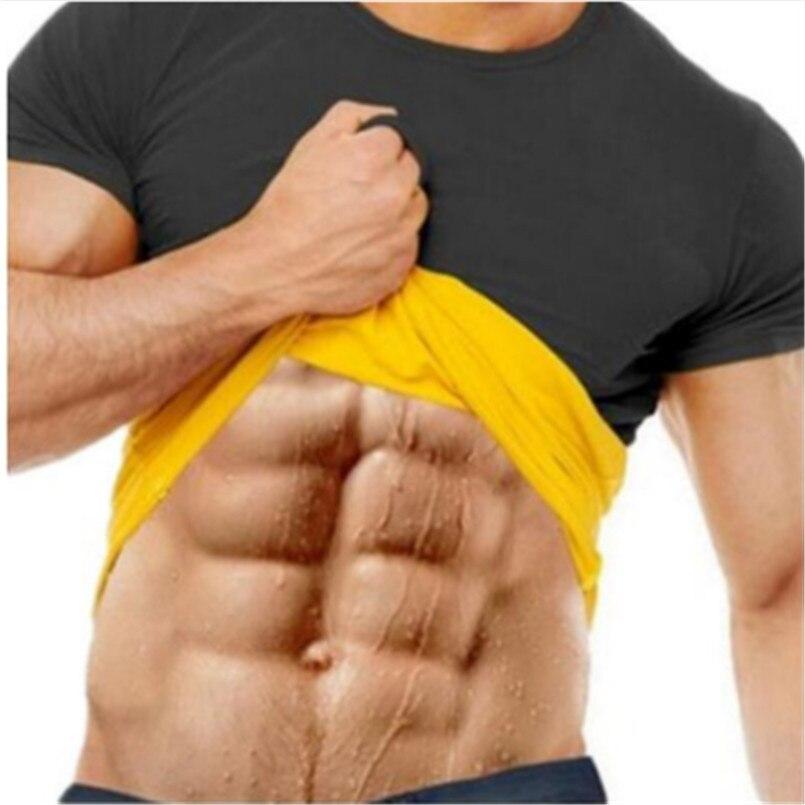 2018 Mannen Hot Shapers Compressie Slim Shirt Neopreen Taille Trainer Body Shaper Slanke Vest T-shirt S-3xl Fashion Brand En Digestion Helping