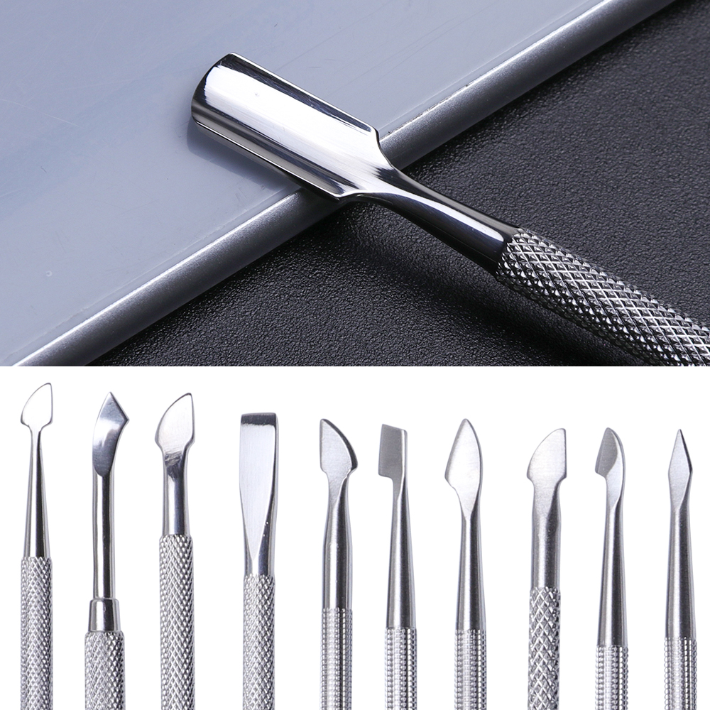 ALI shop ...  ... 32894497094 ... 1 ... 1Pcs Dual-end Nail Cuticle Pusher Spoon Stainless Steel UV Gel Polish Removal Trimmer Dead Skin Grinding Rod Manicure Tool JIA17 ...