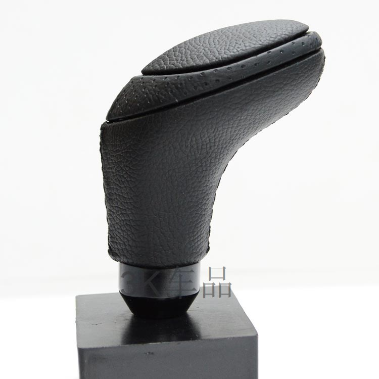 Leather Black MOMO Stitched Manual Drive Car Gear Shifter Shift Lever Knob for PEUGEOT GO1 309