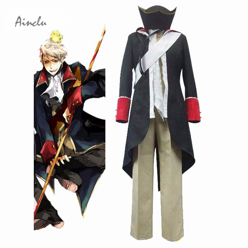 Здесь продается  Ainclu Free Shipping New Axis Powers Military Uniform Unisex Hetalia Prussia Halloween Cosplay Costume Any Size For Halloween  Одежда и аксессуары