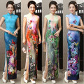 Chinese style 2015 placketing sexy slim design long cheongsam improved cheongsam one-piece dress formal dress costume party bar