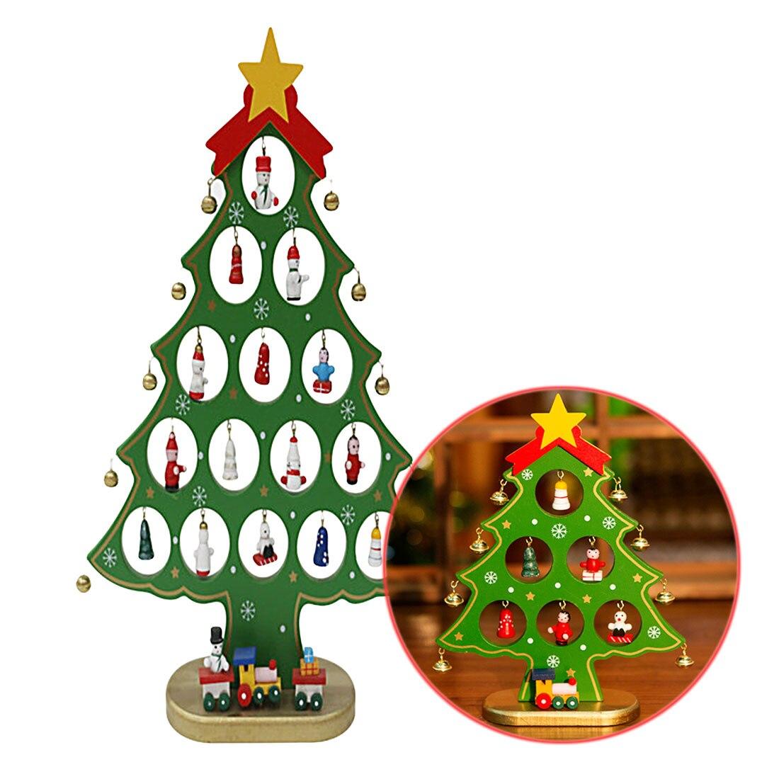 Hot Christmas Ornament Wooden Christmas Tree Christmas Hanging ...