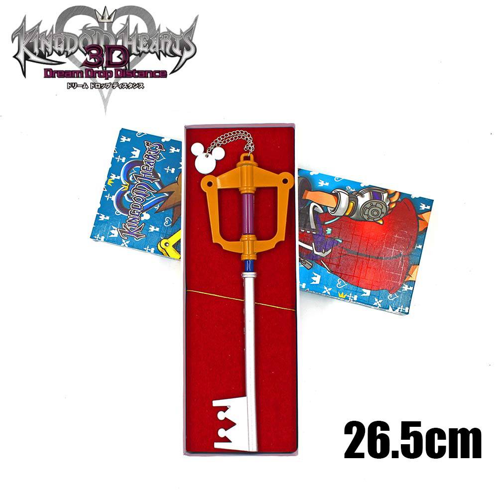 Novelty & Special Use Delicious Kingdom Hearts 2 Ii Metal Sora Metal Keyblade Keychain Pendant Necklace Weapons Collections Set+box