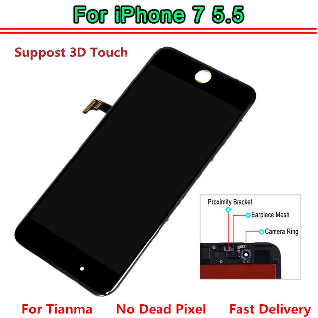 sports shoes 36ed5 c759b US $24.17 9% OFF|1pcs Tianma AAA LCD For iphone 7 plus Display Touch Screen  Digitizer Replacement Full Assembly for iPhone 7 Plus 5.5 inch lcd-in ...