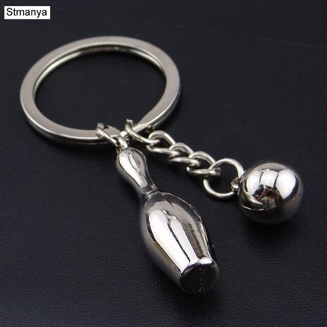 Metal Keychain Sport Key Chain - Hot Sale Mini bowling key Ring keychain keychains souvenir key Car Men and Women Gift   17397
