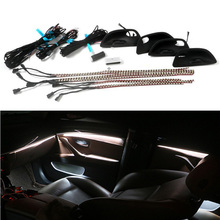 Car Styling 3 colors car interior decorative led stripes atmosphere lamps upgrade led lights for bmw 5 series F10 F11 F18 525