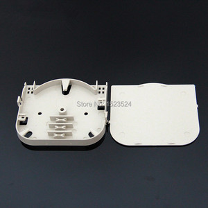 Image 1 - 20 قطعة/الوحدة 4 الأساسية ABS البلاستيك لوحة محطة صندوق لوحة الألياف البصرية لصق صينية الألياف البصرية 4 ميناء الألياف البصرية الربط صينية