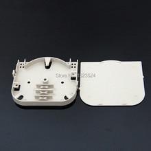 20 шт./лот 4 жильная пластина из АБС пластика, Клеммная коробка, лоток для оптоволокна, лоток для оптоволокна с 4 портами, лоток для оптоволокна