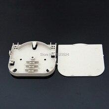 20 stks/partij 4 core abs plastic plaat terminal doos plaat glasvezel lasdienblad glasvezel 4 poort glasvezel splicing lade