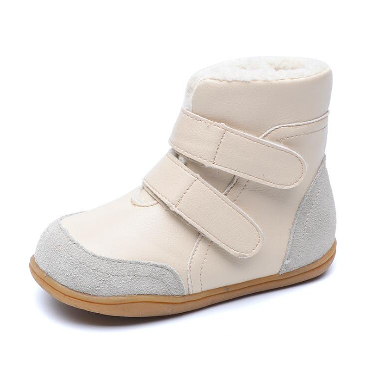 2019 New Winter Baby Snow Boots For Girl Boy Genuine Leather Children Warm Ankle Boots Boys Girls Thickened Cotton Shoes