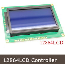 2PCS 12864LCD 128×64 Dots Graphic Blue Color Backlight LCD Display Module Controller For Arduino Raspberry Pi23.785
