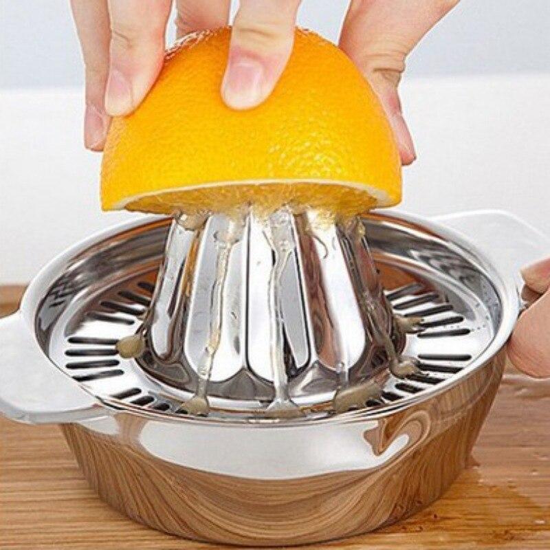 Manual Juicer Handhold Orange Lemon Juice Maker Stainless Steel Manual Squeezer Press Squeezer Citrus Juicer Home Appliances