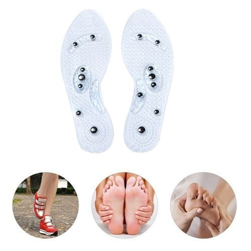 1 Pair Women Men Silicone Insole Magnetic Therapy Anti Fatigue Health Care Massage Insoles WML99