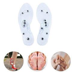 1 пара для женщин мужчин силиконовые стельки Магнитная терапия Анти усталость здоровье и Гигиена Массаж WML99