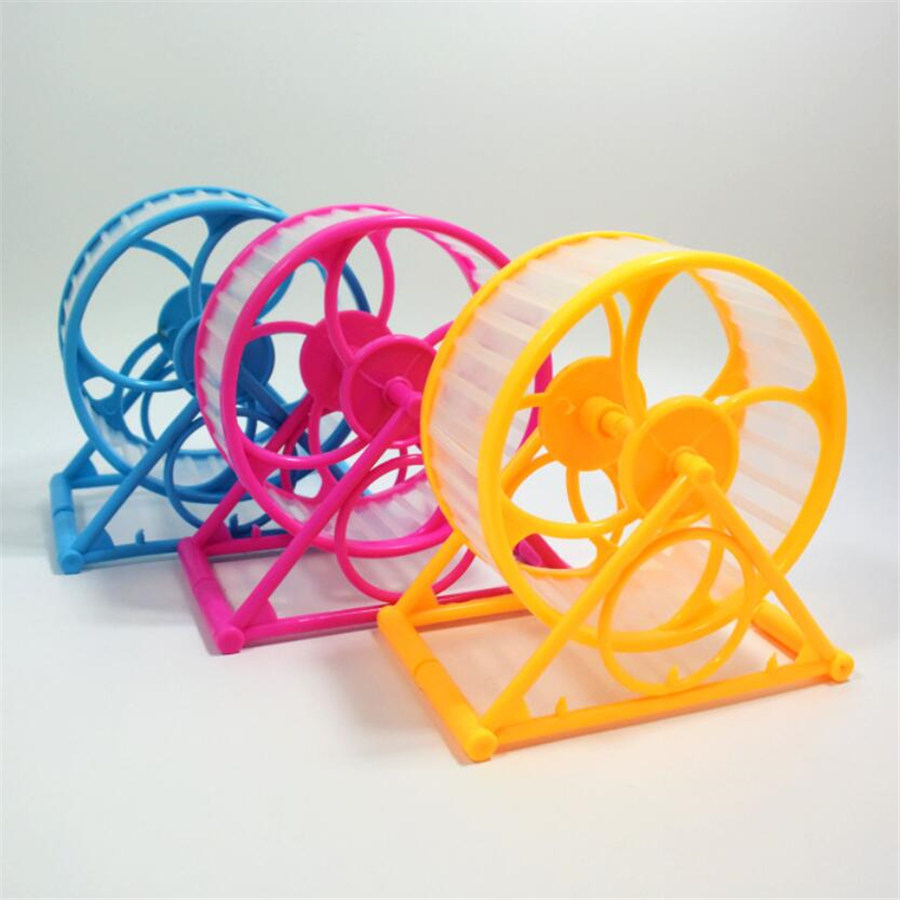 1pcs Small Pets Hamster Exercise Wheel Guinea Pig Mouse Running Sports Wheel Small Animals Pet Toy - Random Color