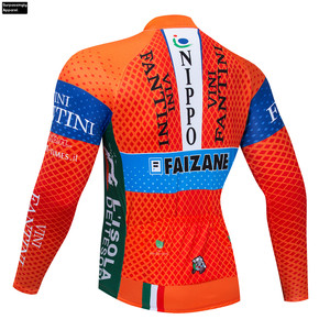 Image 2 - Cycling Jerseys VINI Orange Winter Thermal Fleece Men MTB Mountain Bike Clothing Road Bicycle Wear Breathable Maillot Culotte