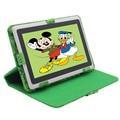 """Q8 precio Bajo 7 """"tablet pc android 4.4 de google a33 quad-core 8 gb wifi regalo de los cabritos juguetes para niños tablet pc soporte funda"""