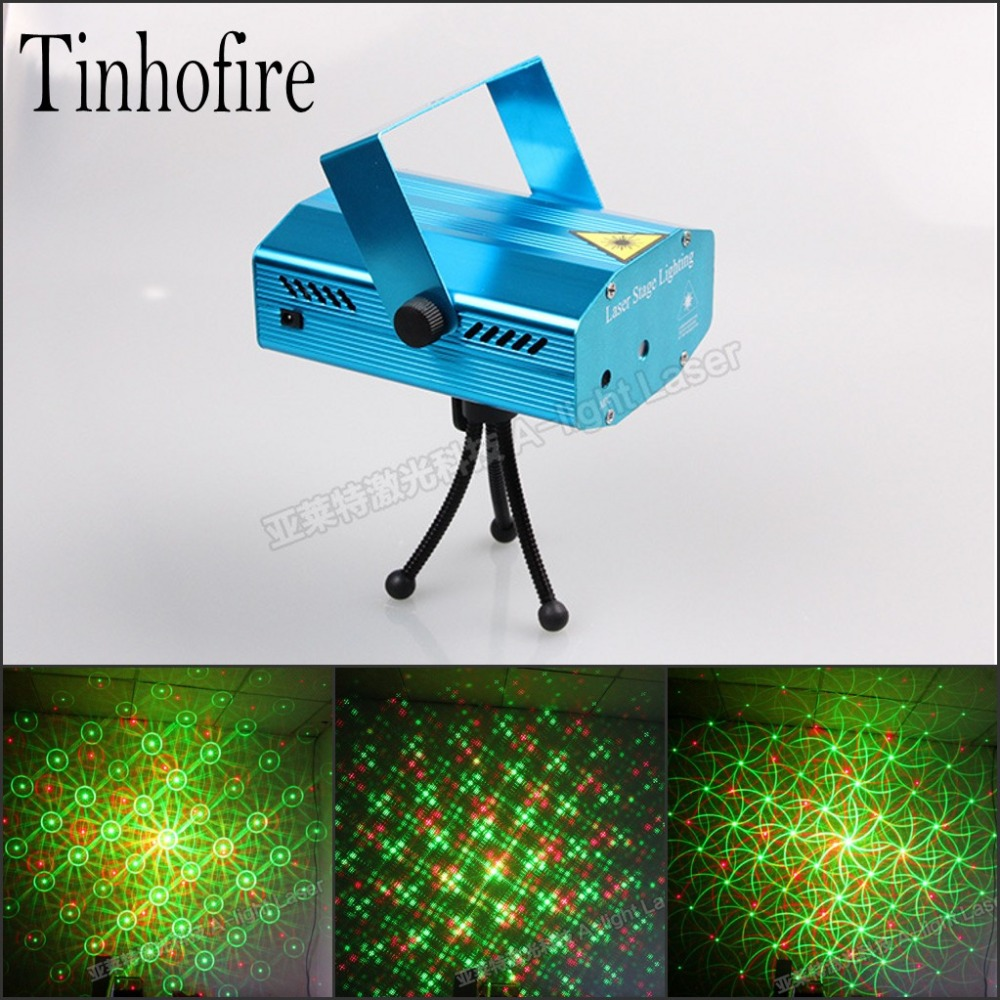 Tinhofire A-04G Whirlpool MINI LED Stage Light Lamp R&G Laser Stage Lighting Sound Control Party KTV DISCO lamp lights rg mini 3 lens 24 patterns led laser projector stage lighting effect 3w blue for dj disco party club laser