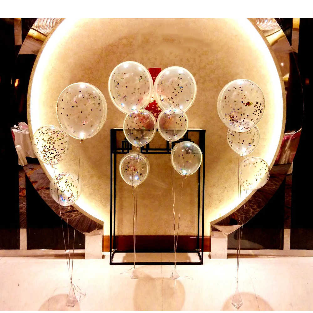 HOT 10pcs 18inch big Balloons multicolor confetti balloon Brithday Party Wedding decoration Latex Transparent Clear Balloon