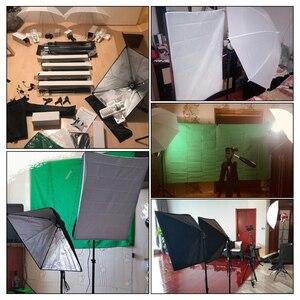 Image 5 - Equipamentos De Iluminação De Fotografia profissional Kit com Lâmpadas Softbox Guarda chuva Suave estande fundo Backdrops Photo Studio