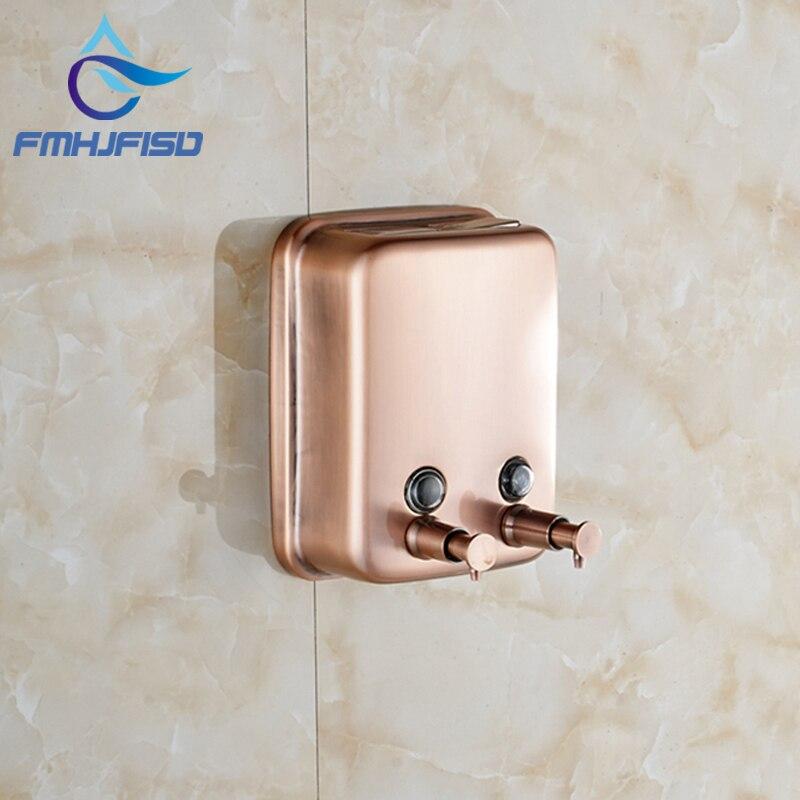 Antique Bronze Copper Bathroom Soap Dispenser 1000ml Kitchen Soap Box  Dispenser(China (Mainland)