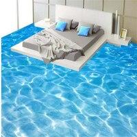 High Definition Sea Water Ripples 3D Tiles Painting 3d Waterproof Self Adhesive Floor Painting Wallpaper Stickers