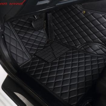 Car Wind Leather Auto car floor Foot mat For skoda superb 2017 3 kodiaq yeti octavia rs 1 fabia 3 karoq rapid 2017 accessories