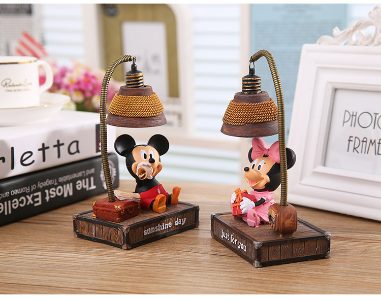 Minnie Mickey Night Light 16cm Toys #1527 <font><b>Action</b></font> Figure Brinquedo Toy Kids Christmas Gift Free Shipping