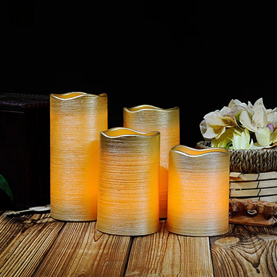 Decoración romántica para boda vela Led Velas Bougie Anniversaire parafina sin llama Velas decorativas para hacer el hogar JKK208 Lellen marfil parpadeo velas LED con control remoto perfumada vela de la batería operado de velas de Casa decoración de la boda
