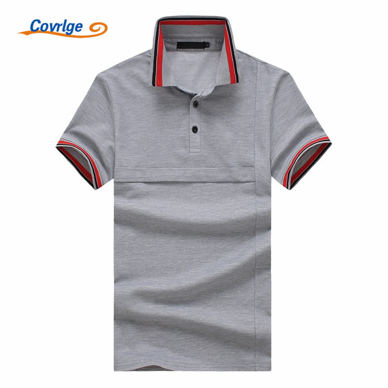Covrlge High Quality Brand Man   Polo   Shirt New Summer Casual Business Men's   Polo   Solid   Polo   Shirt   Polo   Men Tee Shirt MTP085